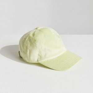 Urban Outfitters Green Terry Cloth Baseball Hat